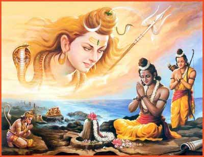Rameshwaram-Shiva worshiping