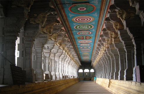 Rameswaram-Temple corridors