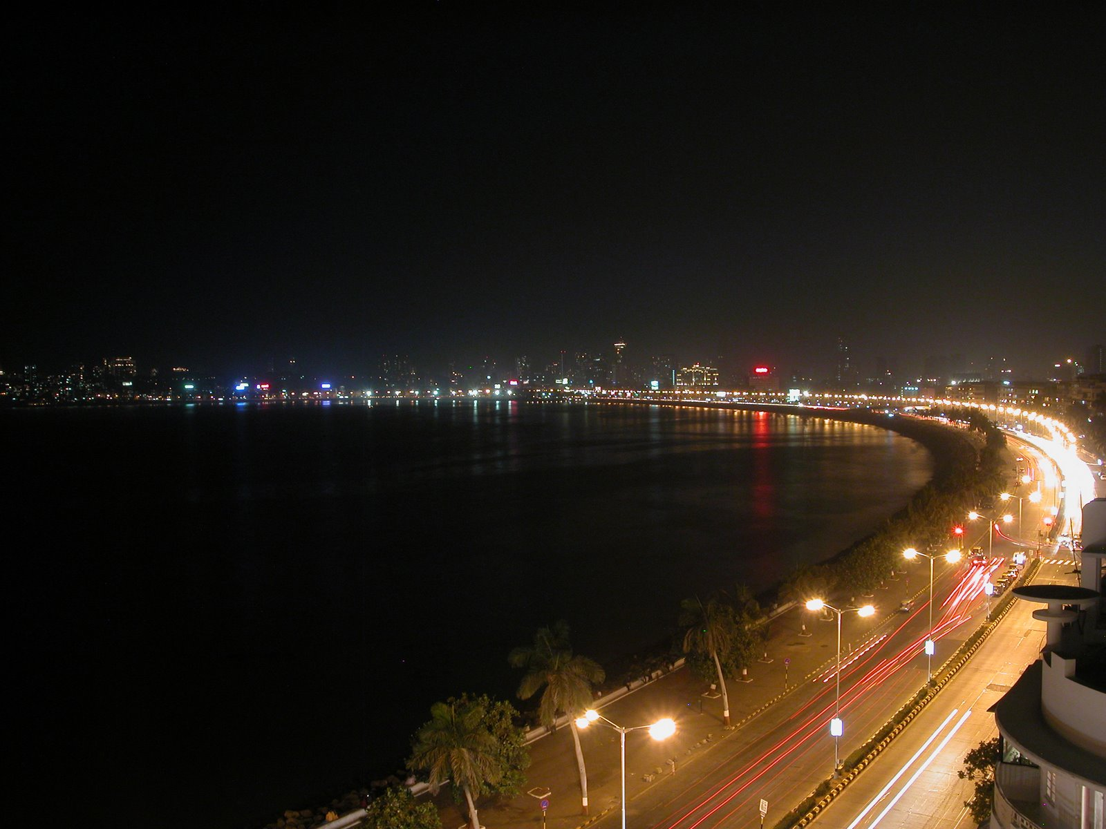 Marine Drive Mumbai night view