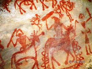 Bhimbetka art painting