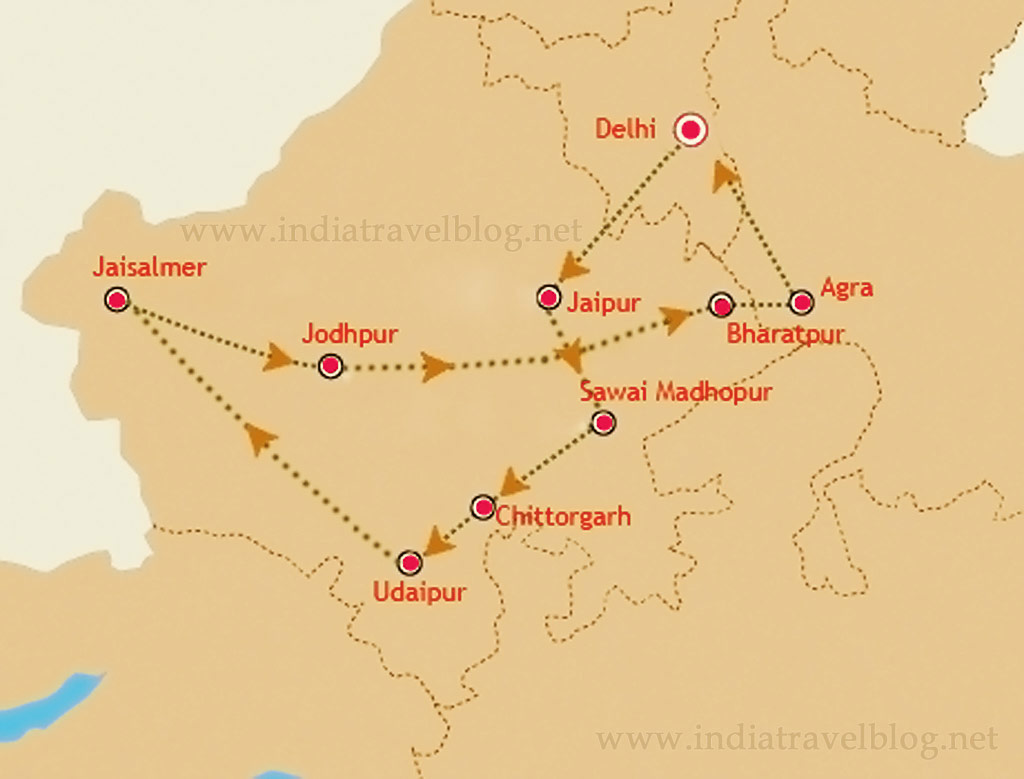 palace on wheels - route map
