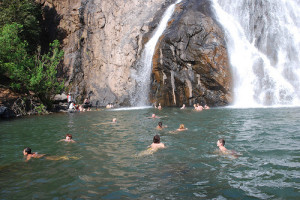 swimming at Dudhsagar