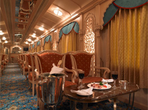 Indian maharaja train - interior