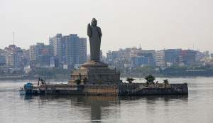 Buddha statue in Hussain Sagar Lake Hyderabad