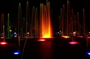 Brindavan Garden Fountain Night View