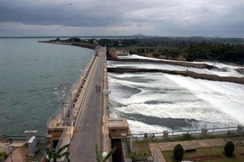 krishnarajasagara dam or the krs dam that is built across kaveri river
