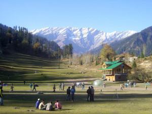 Solang valley slopes near Manali
