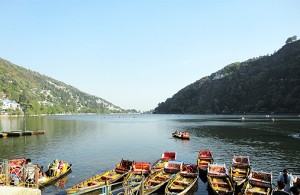 Naini Lake and boats