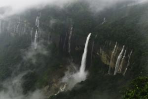 Nohsngithiang Falls Cherrapunji