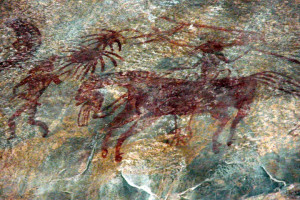 Prehistoric painting at Bhimbetka caves