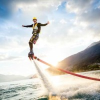 Man performing Flyboarding in Goa The Most Appealing Top 5 Honeymoon Destinations in India