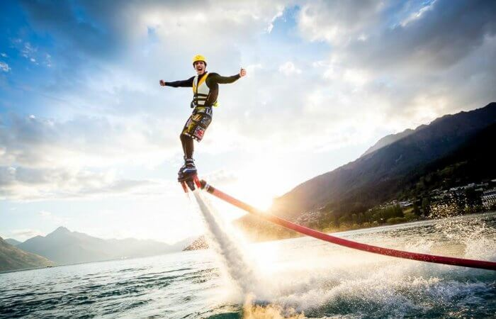 Man-performing-Flyboarding-in-Goa