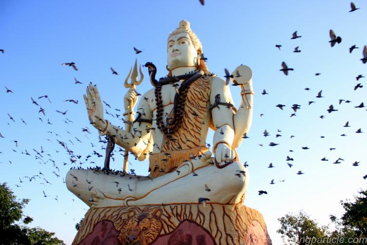 Statue of Lord Shiva at Nageshwar Temple