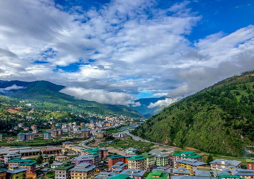 colourful village at the river in beautiful valley bhutan valley tour Sight Seeing Trip at Paro