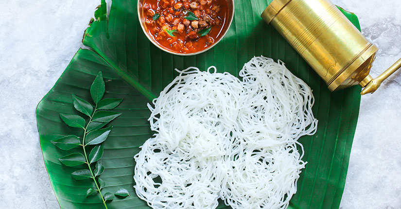Idiyappam nmami life 13 Lip-Smacking Vegetarian Dishes Of Kerala To Give You A Visual Treat