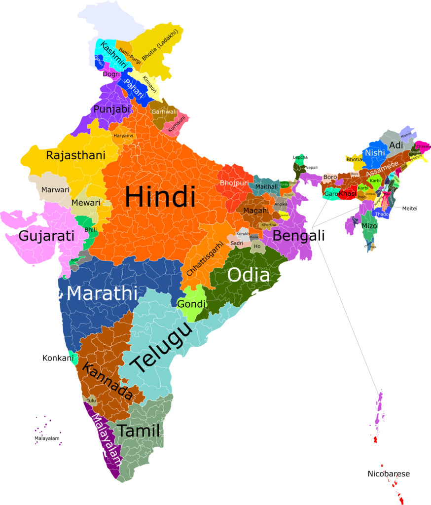 India First Language Map